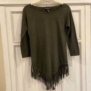 INC Sweater with Fringe